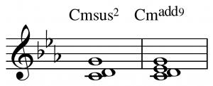 sus music chords