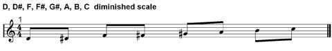 diminished scales in music theory