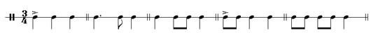 Waltz rhythms